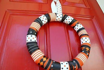 Photo of Halloween Ribbon Wreath