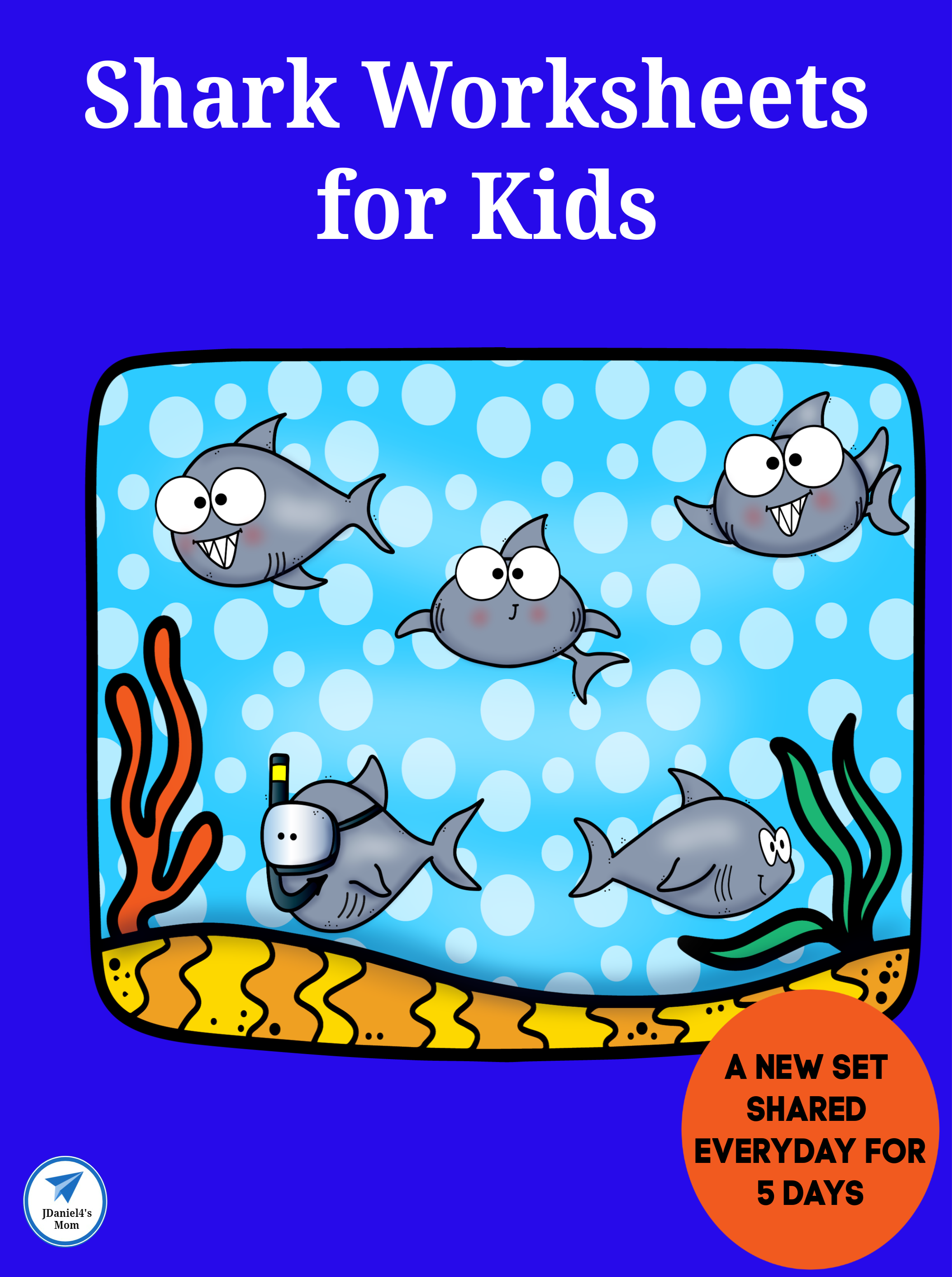 Shark Worksheets For Kids Five Days Worth Jdaniel4s Mom Worksheets For Kids Early Learning Math Shark Activities [ 3100 x 2312 Pixel ]