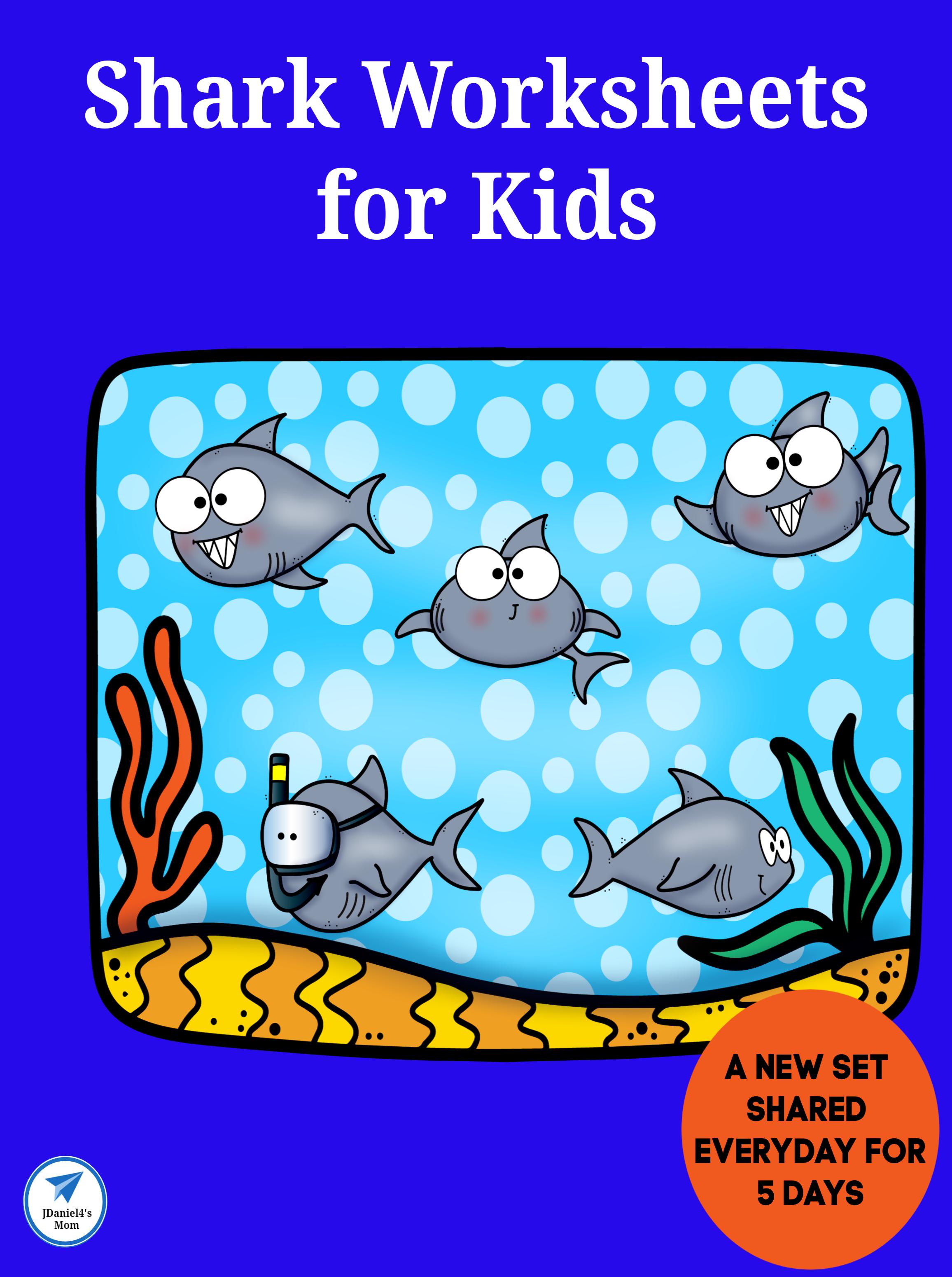 Shark Worksheets For Kids Five Days Worth