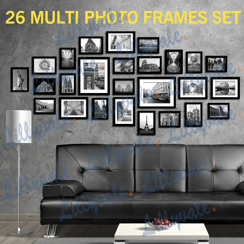 Photo Frames Multi Picture Wall Set 26 Pcs 164cm X 74cm Home Deco Collage Ebay Frame Wall Layout Picture Frame Decor Frames On Wall