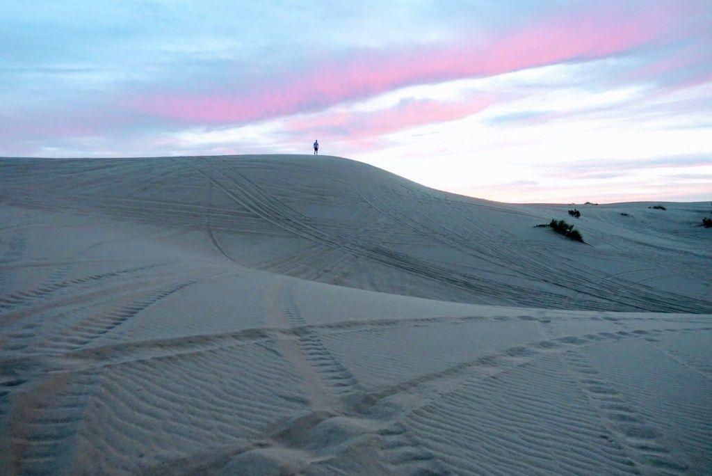 Exploring the imperial sand dunes in california sand