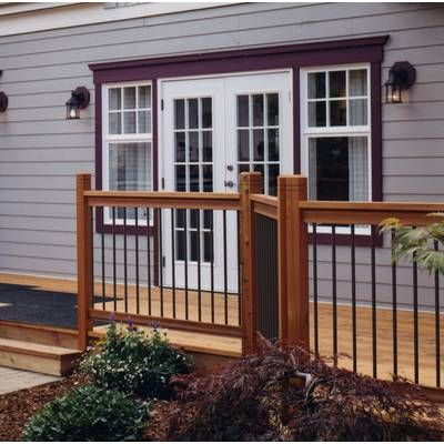 Best Traditional Treated Straight Deck Railing Panel Deck 400 x 300