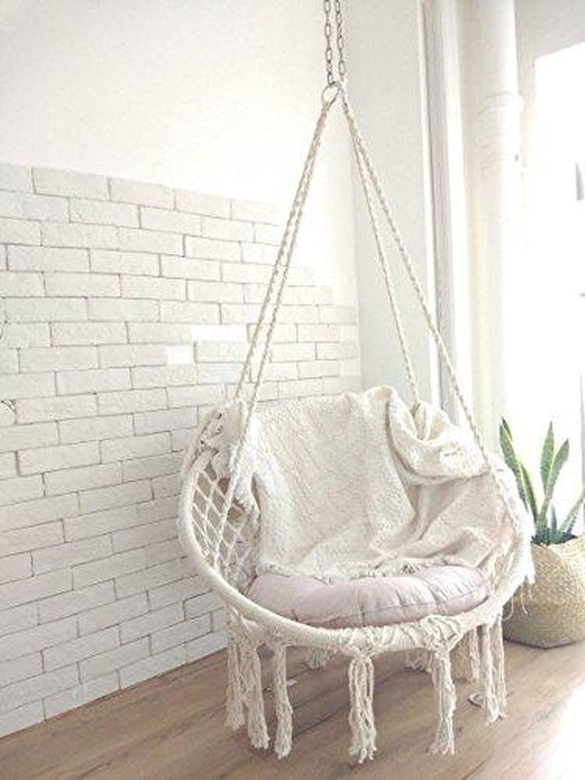 33 Cozy Hanging Macrame Chair Ideas For Your Relaxing Moment Matchness Com Bedroom Hanging Chair Macrame Chairs Swing Chair Bedroom