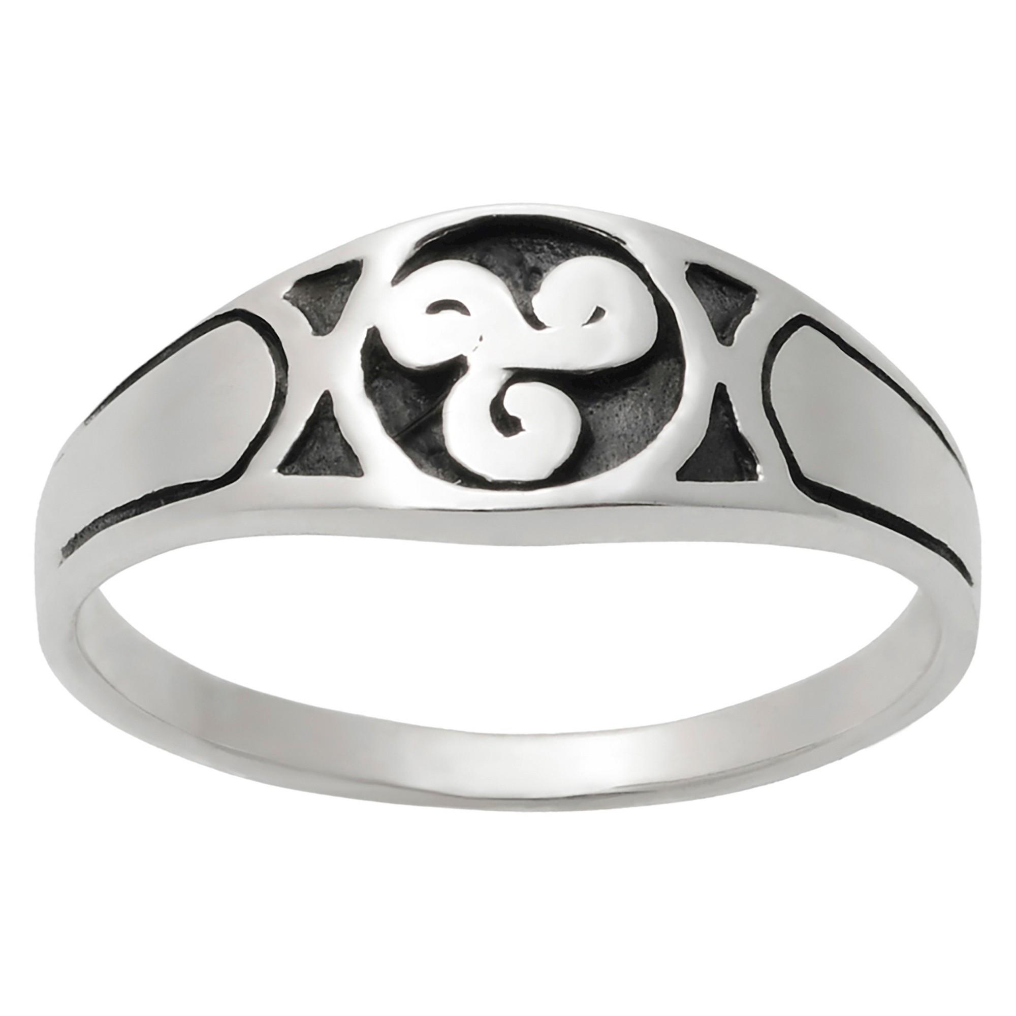 Women S Journee Collection Oxidized Celtic Swirl Design
