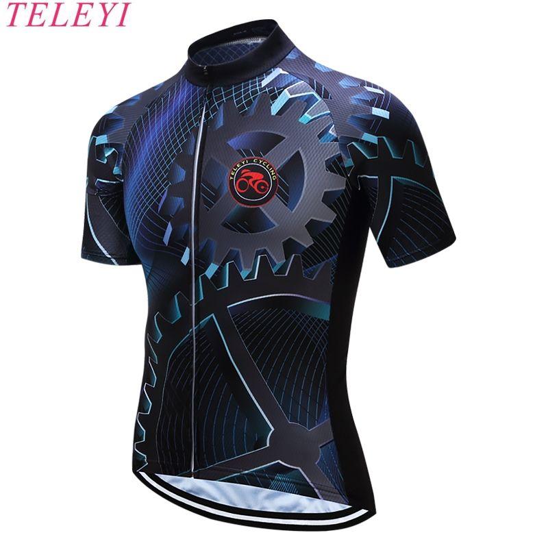 Teleyi 2017 سريعة جاف الرجال Mtb دراجة الدراجات جيرسي الصيف ملابس قصيرة روبا Bicicleta مايوه Cicli Camisetas De Bicicleta Roupas De Ciclismo Roupa De Bicicleta