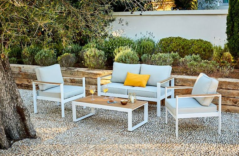 Mobilier De Jardin Salon De Jardin Table Plancha Deco Et For Housse Salon De Jardin Gifi