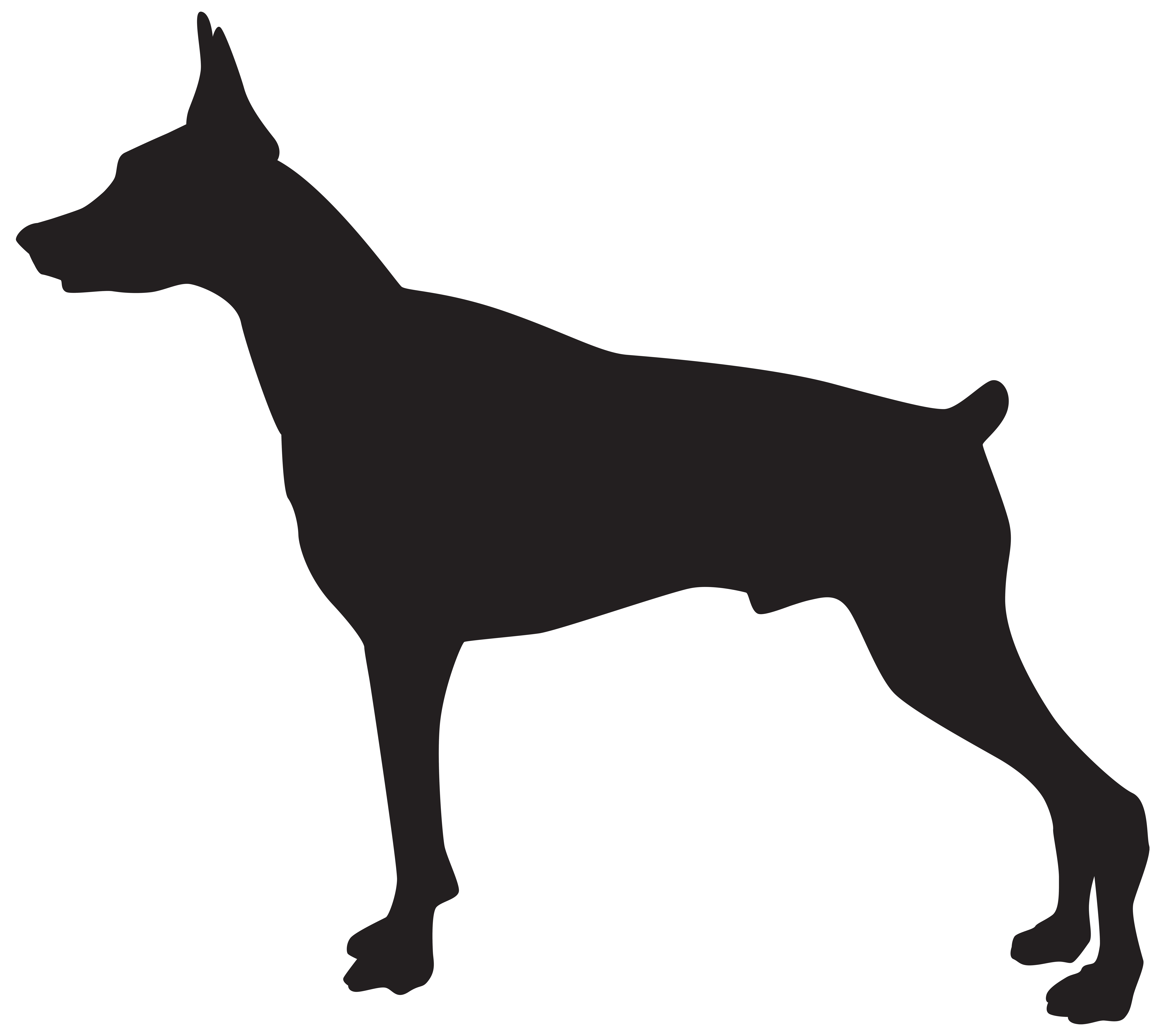 Doberman Dog Silhouette Png Transparent Clip Art Image Gallery Yopriceville High Quality Images And Transparent Png Free Clipart