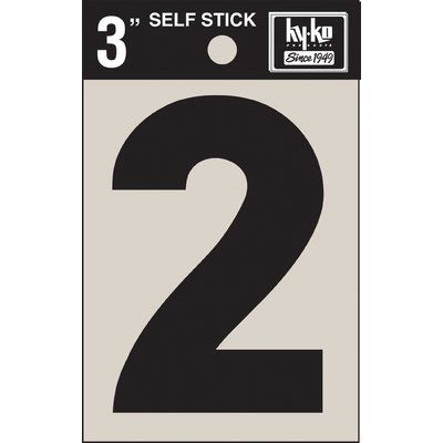Hy Ko 7 In Sticker House Number Number Stickers House Numbers Metal House Numbers