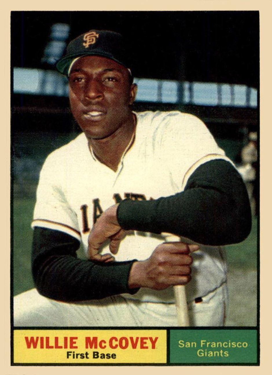 1961 topps willie mccovey baseball cards baseball card