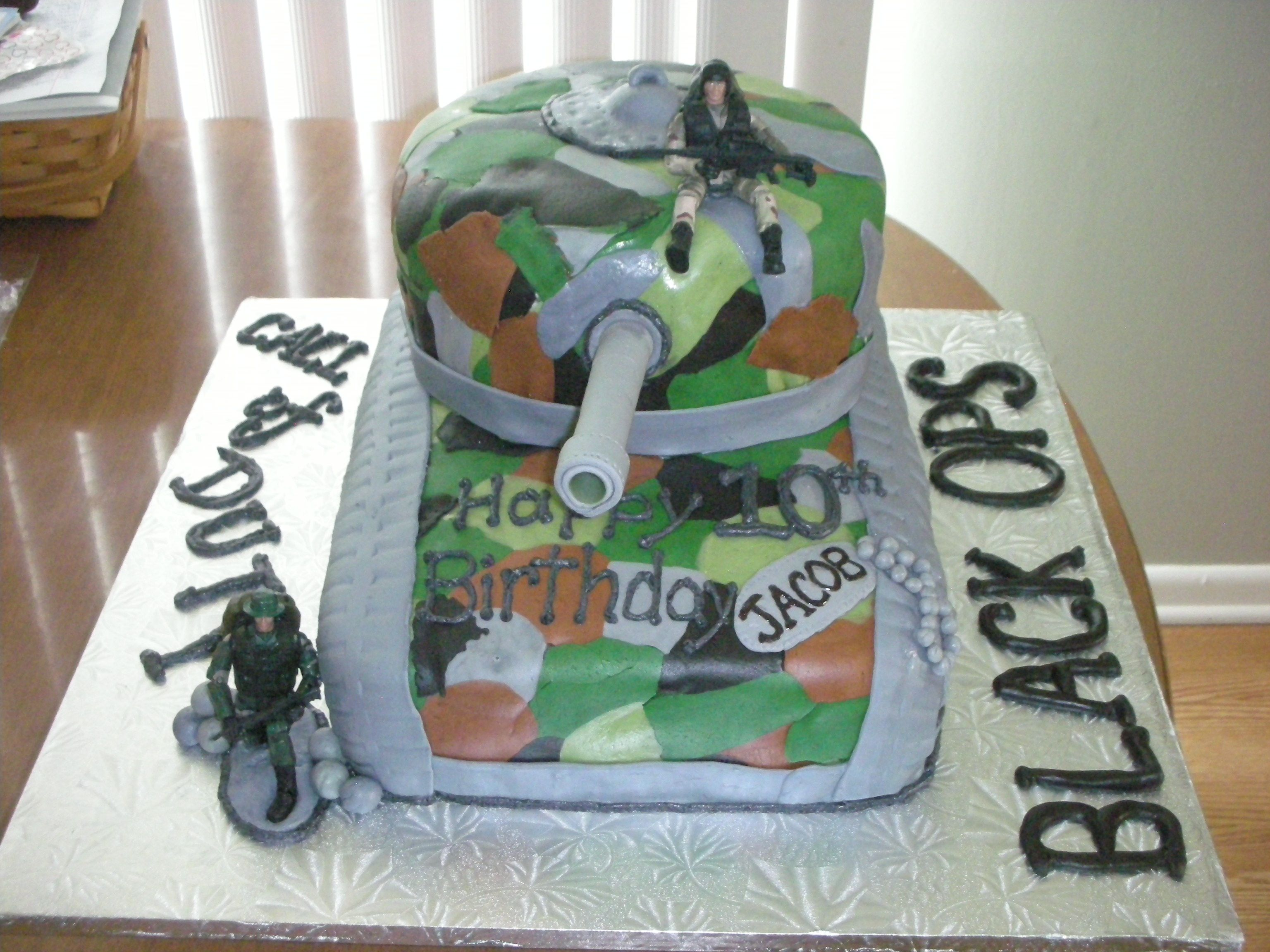 Call Of Duty Black Ops Tank Birthday Cake This Is A Birthday Cake