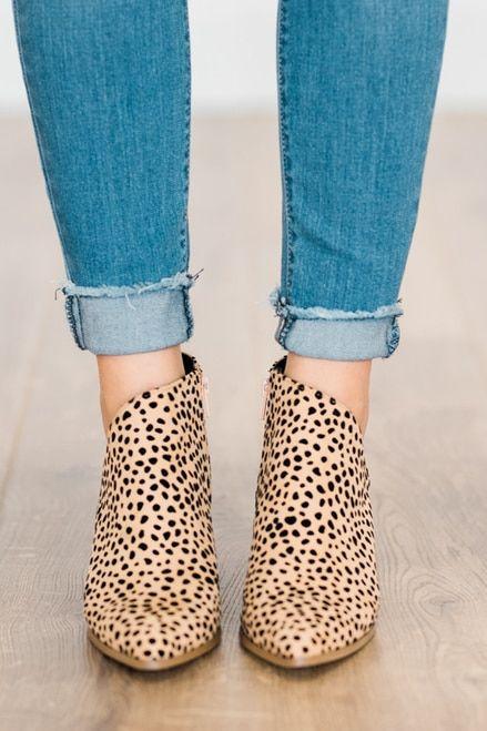 Ada Cheetah Booties leopard-print-mini-cheetah-pattern-animal-printed-ankle-boot-wooden-heel-booties #booties