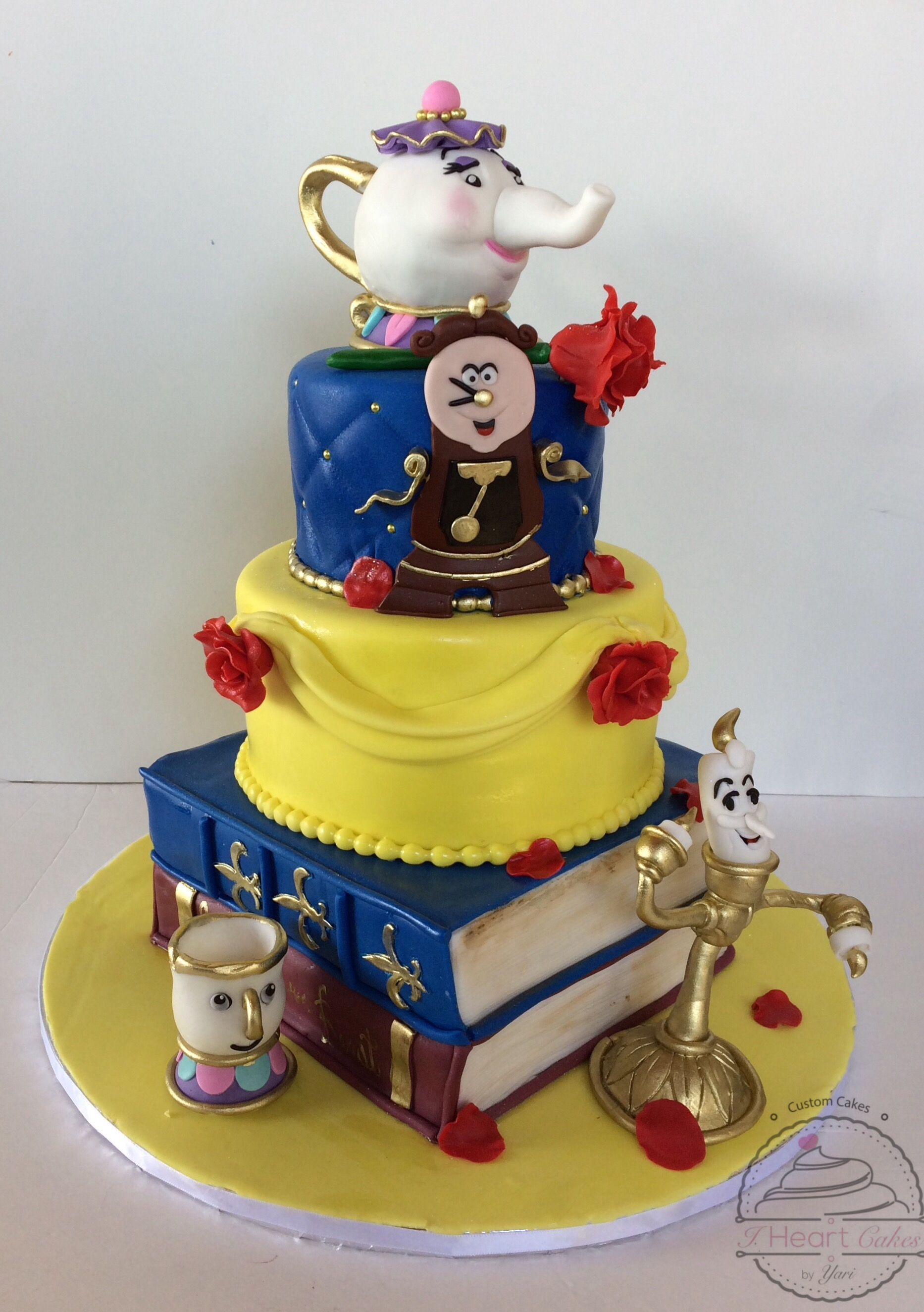 Enchanting Beauty and the Beast Cake mysite I Heart Cakes By
