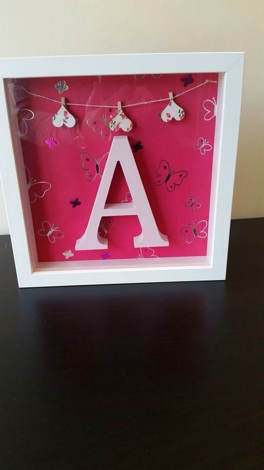 Letter picture frames by Onthebuttonfas on Etsy