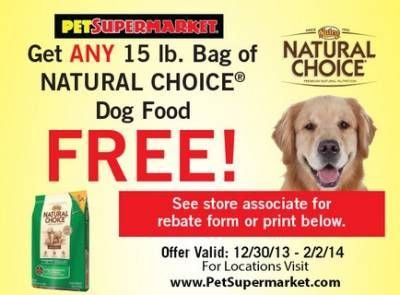 Coupon Free Bag Of Natural Choice Dog Food Dog Food Recipes