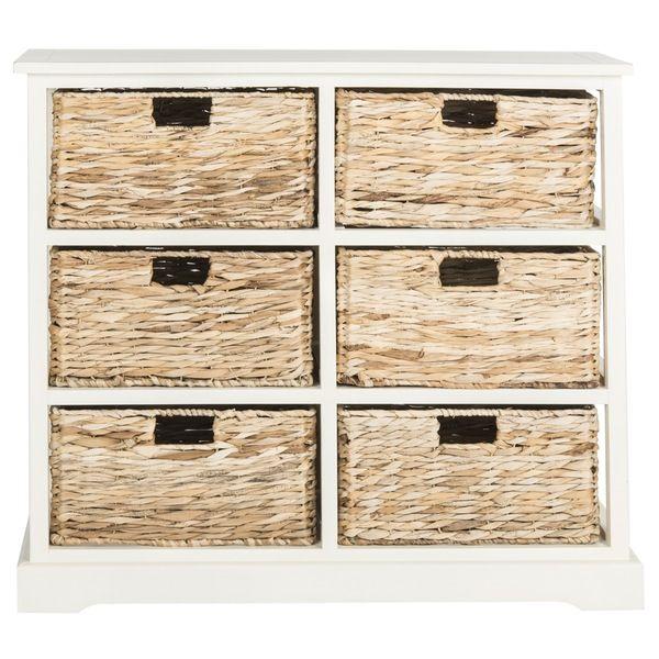 Safavieh Keenan 6 Wicker Basket Storage Chest Wicker Baskets