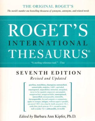 Roget S International Thesaurus Seventh Edition 6th Grade