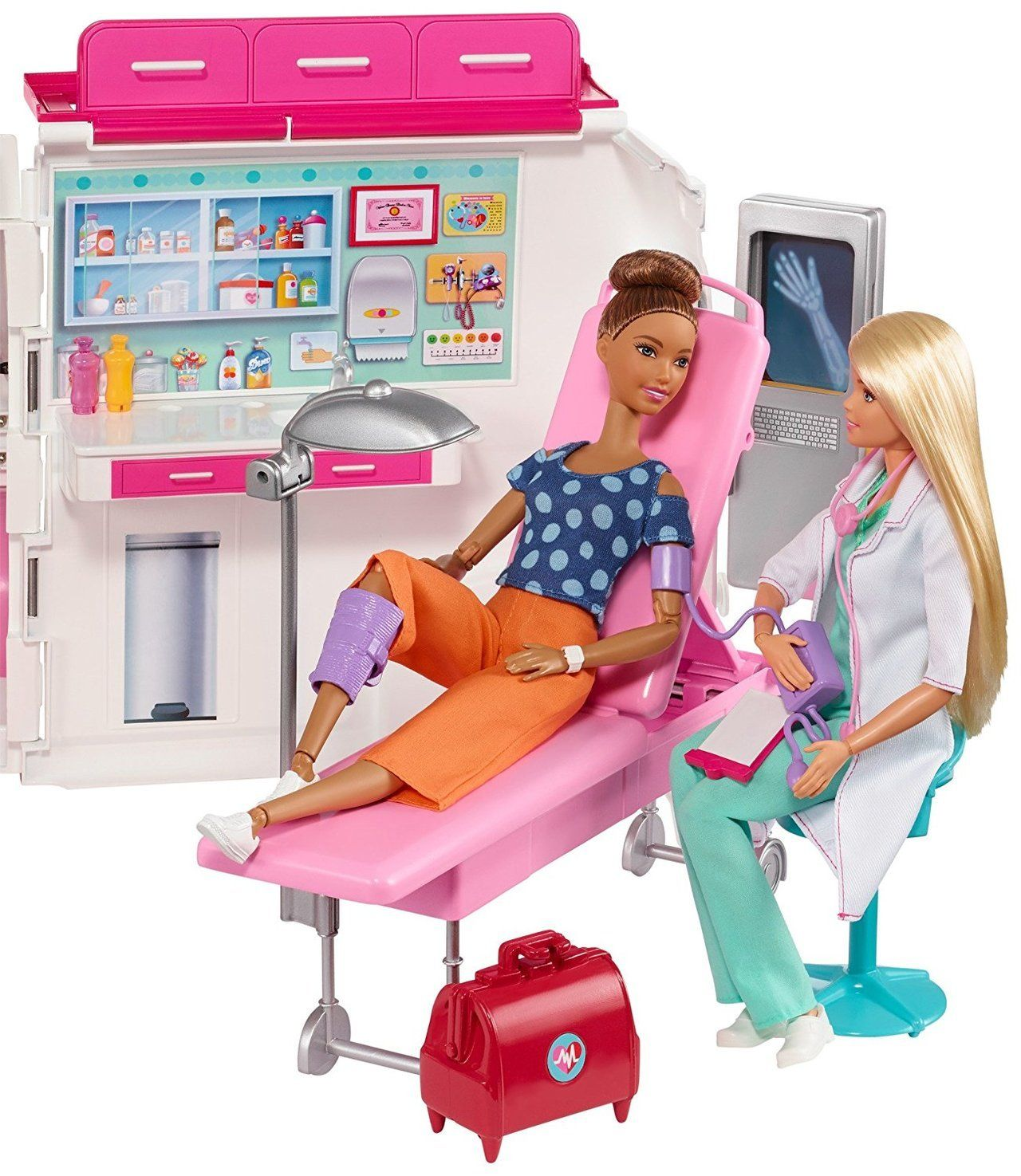 Barbie Care Clinic Vehicle Playset Be Who You Wanna Be