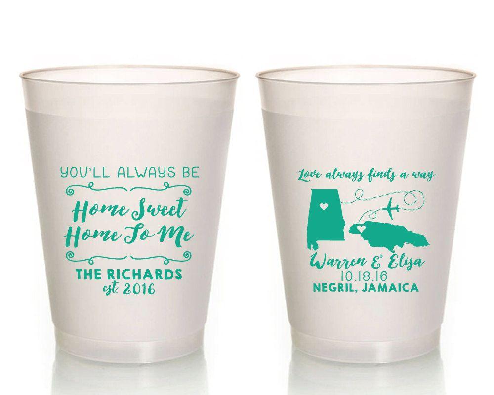 Destination Wedding Cups, Destination Bridal Shower Cups, State To ...