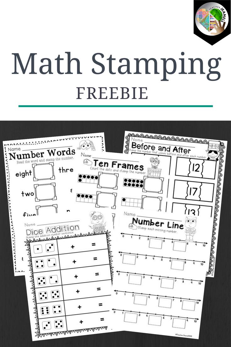 Math Stamping | Kindergarten Stamping | First Grade Stamping ...