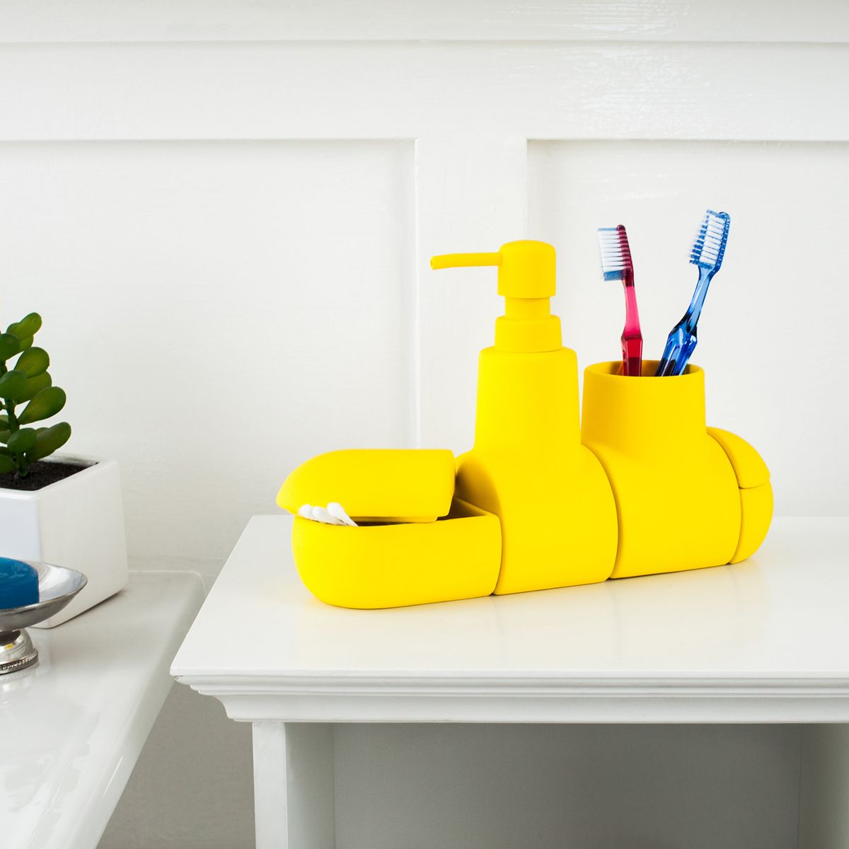 Submarino Bath Set, Yellow By Seletti