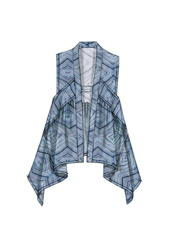 Sewing Pattern Misses Seam-Detail, Shaped Hem VESTS, McCalls Pattern M7416, NEW PATTERN, Plus Sizes, Draped Vest, Fringed Vest, Crop Vest