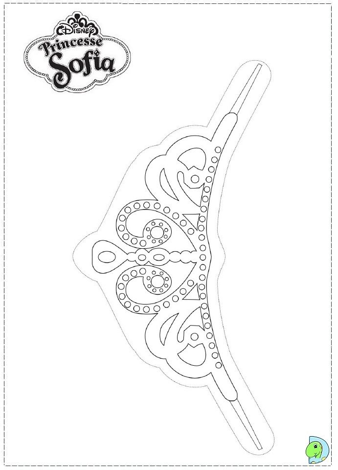 Sofia Crown Coloring Page Sofia The First Sofia The First