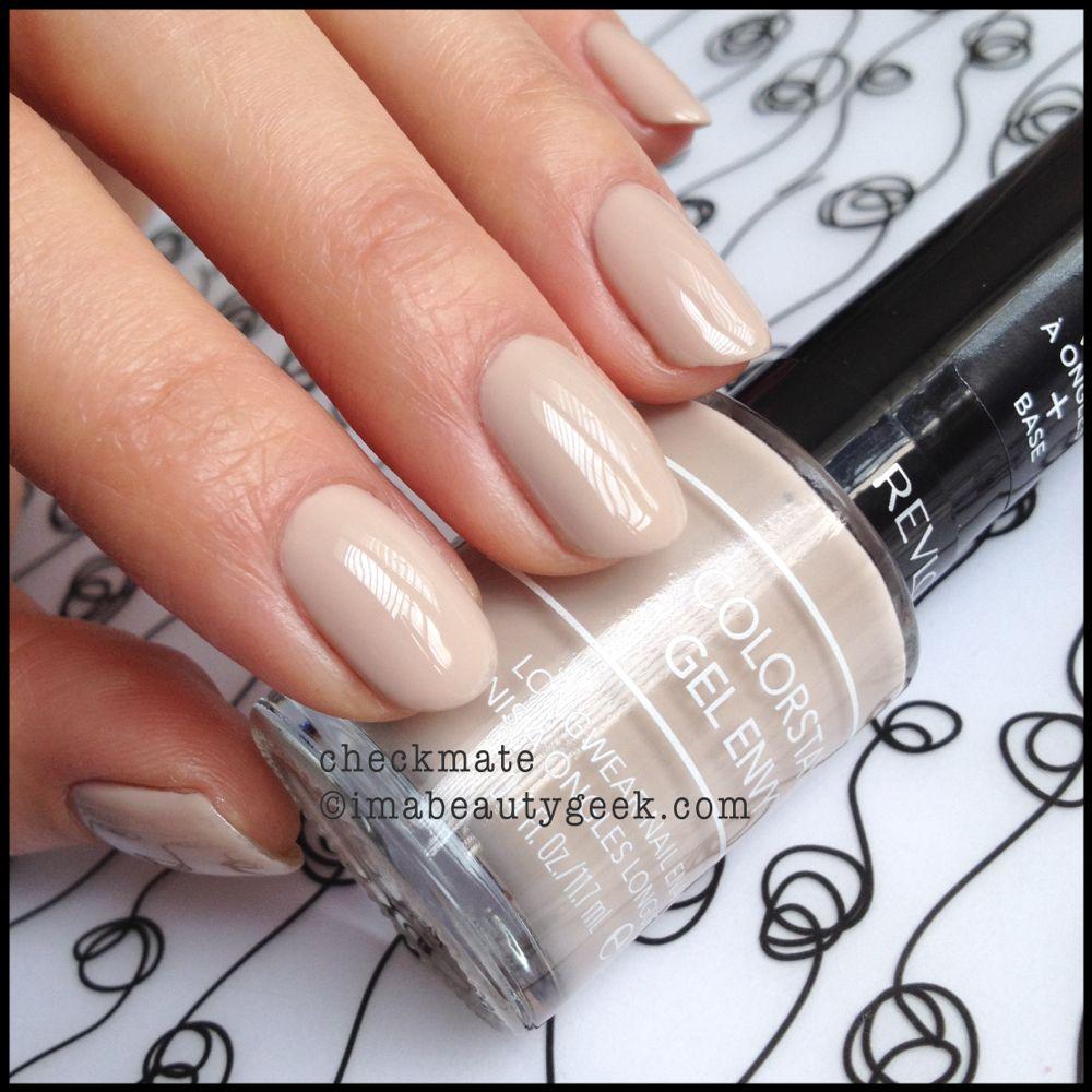 Revlon Gel Envy Checkmate :: perfect neutral nail. This stuff lie ...