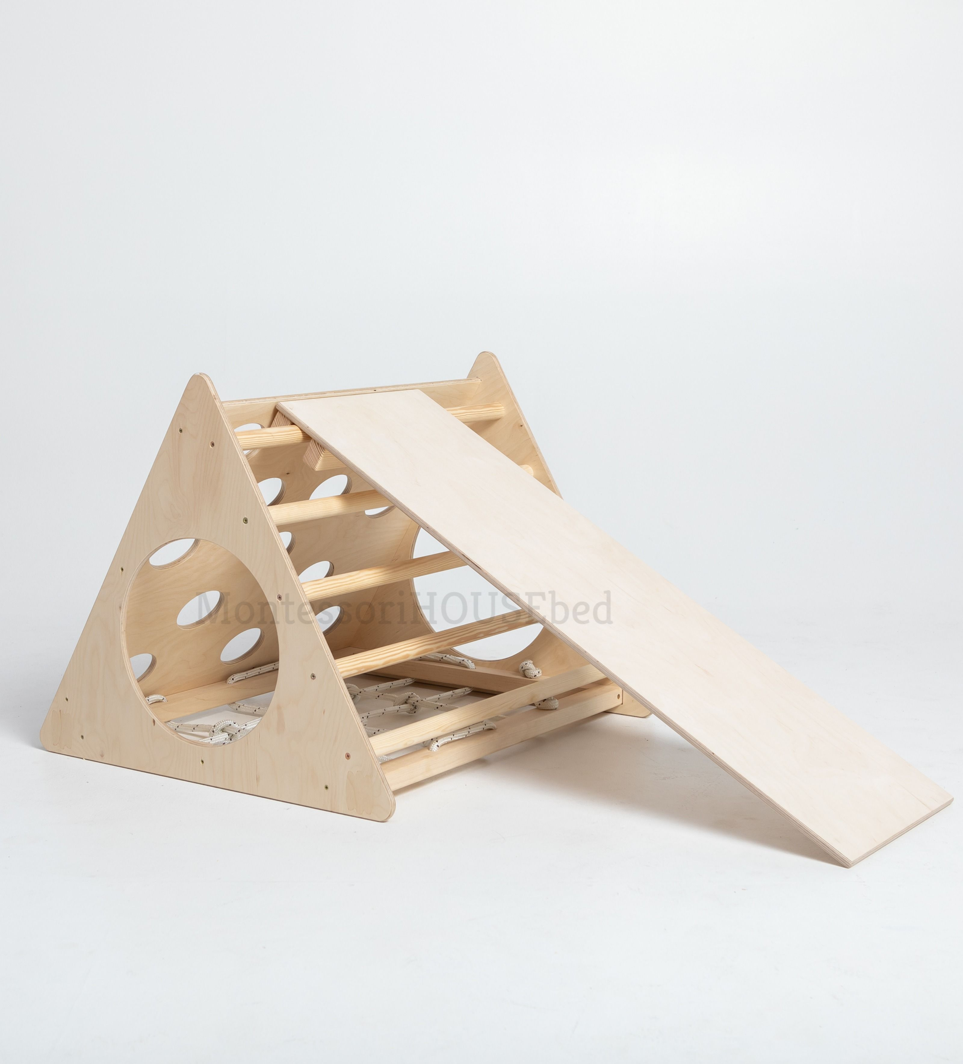 Photo of Transformable Pikler triangle, Step Triangle, Climbing ladder for toddler Climbing triangle for toddlers Triangle with ramp Pikler dreieck