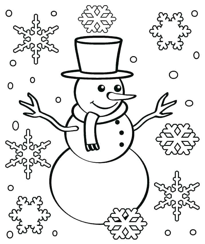Free Printable Snowflake Coloring Pages For Kids Snowman