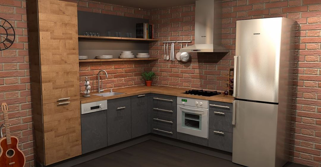 Sah Kitchen Designer On Instagram 7x7 Kitchen For Smaller Spaces Just Because It S Small Doesn T Mean It Small Space Kitchen Kitchen Design Micro Apartment