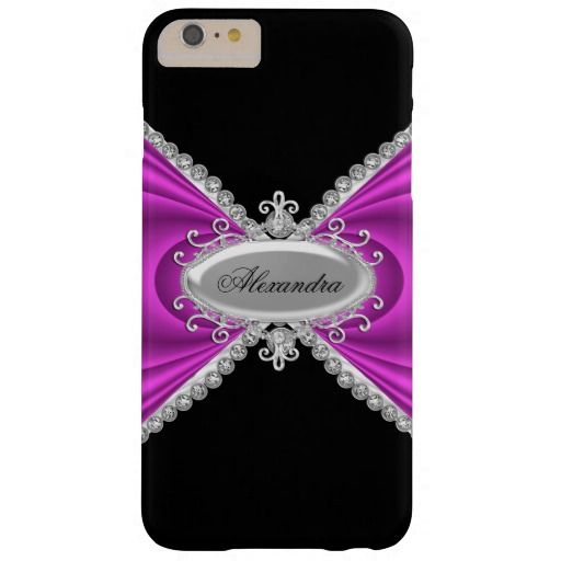Elegant Classy Pink Silver Black 2 Barely There iPhone 6 Plus Case