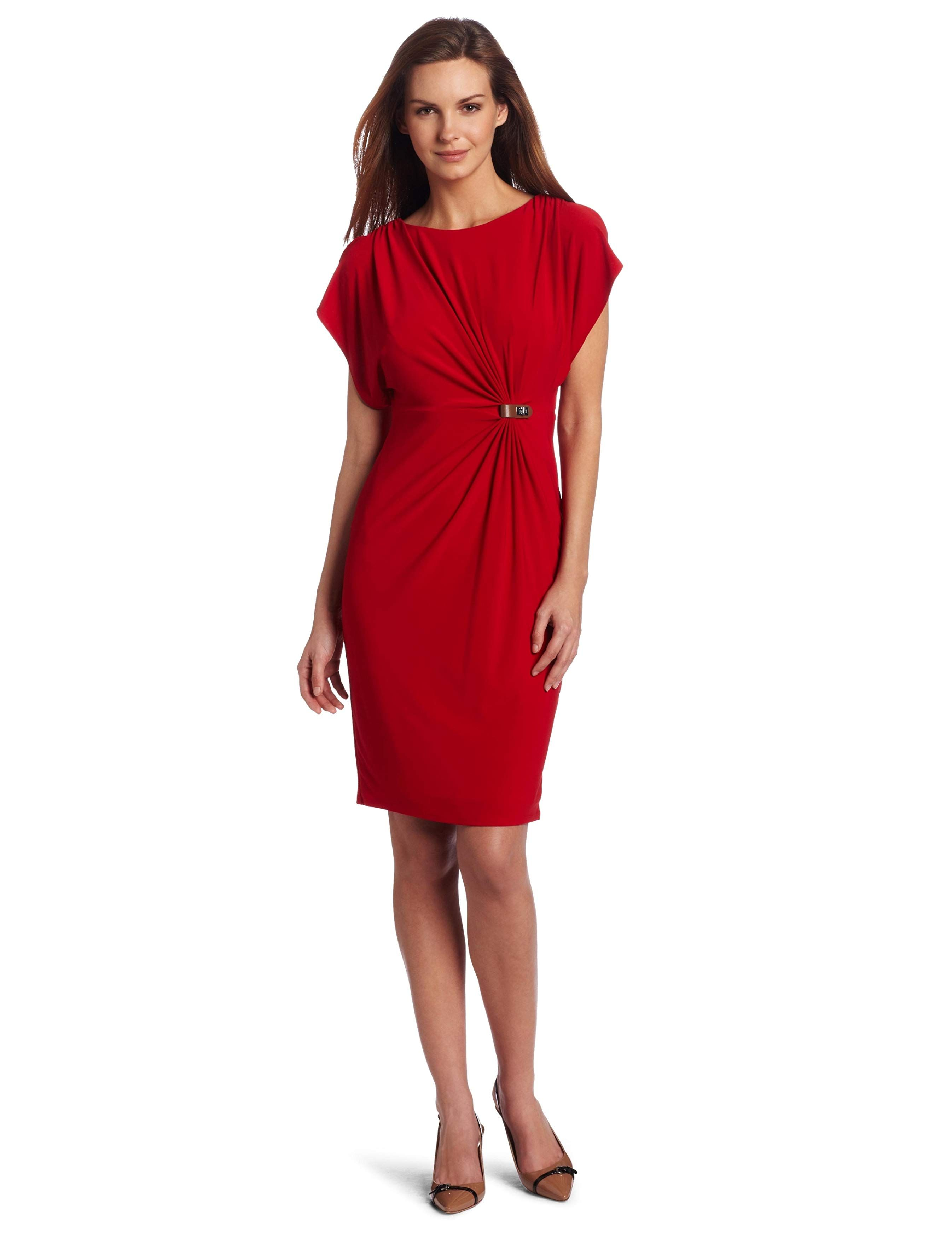 HSN Holiday Red Evening Dresses