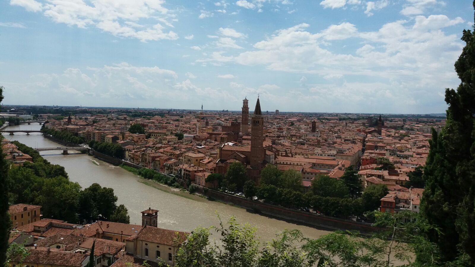 Veronan kaunista kaupunkimaisemaa