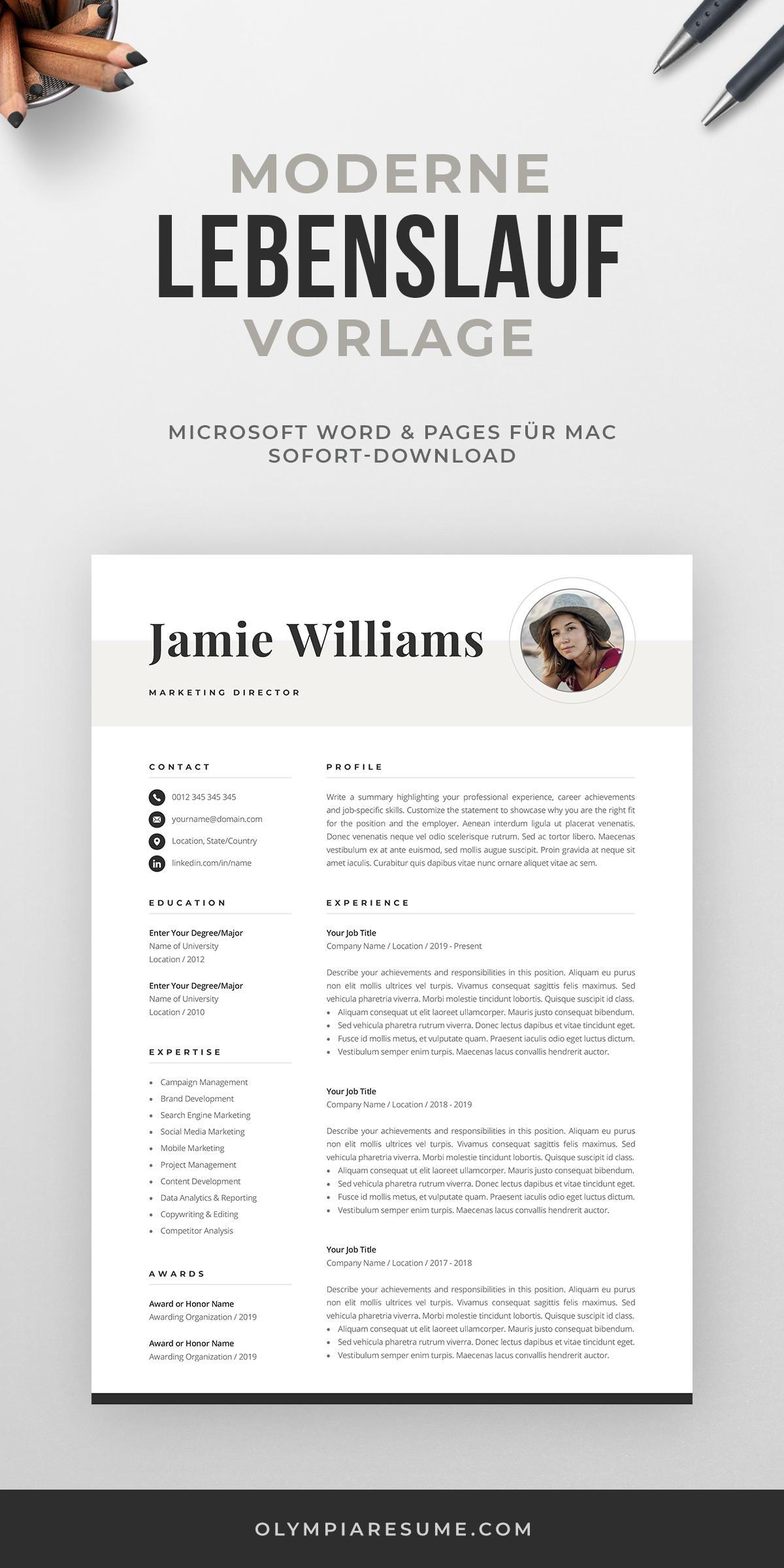 Creative Resume Template With Photo Elegant Design Modern Etsy In 2020 Creative Resume Templates One Page Resume Template Modern Resume Template
