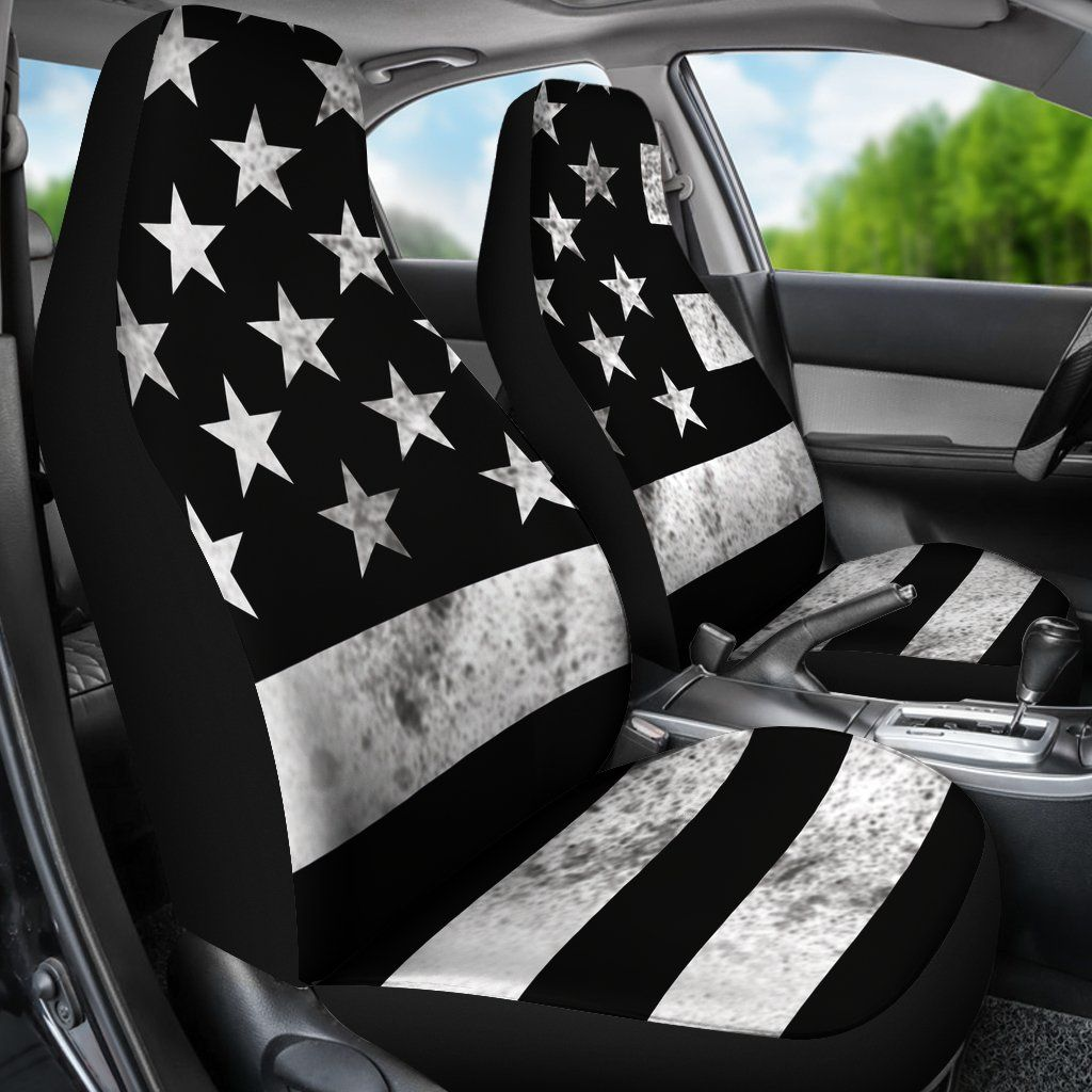 Us Flag Car Seat Covers Set Of 2 Car Seats Car Seat Cover Sets Car