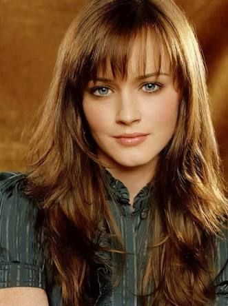 Side Part With Full Fringe Google Search Hair Styles Haircuts For Long Hair Long Layered Hair