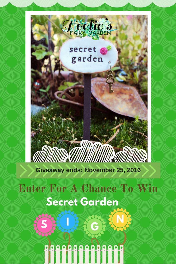 secret garden signs, fairy garden giveaways | fairy, garden signs and gardens, Design ideen