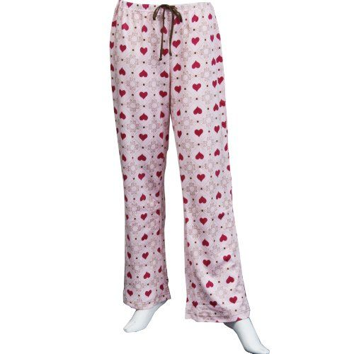 e4556db1c567 Leisureland womens knit pajama lounge pants pink hearts design jpg 500x500  Pants with hearts