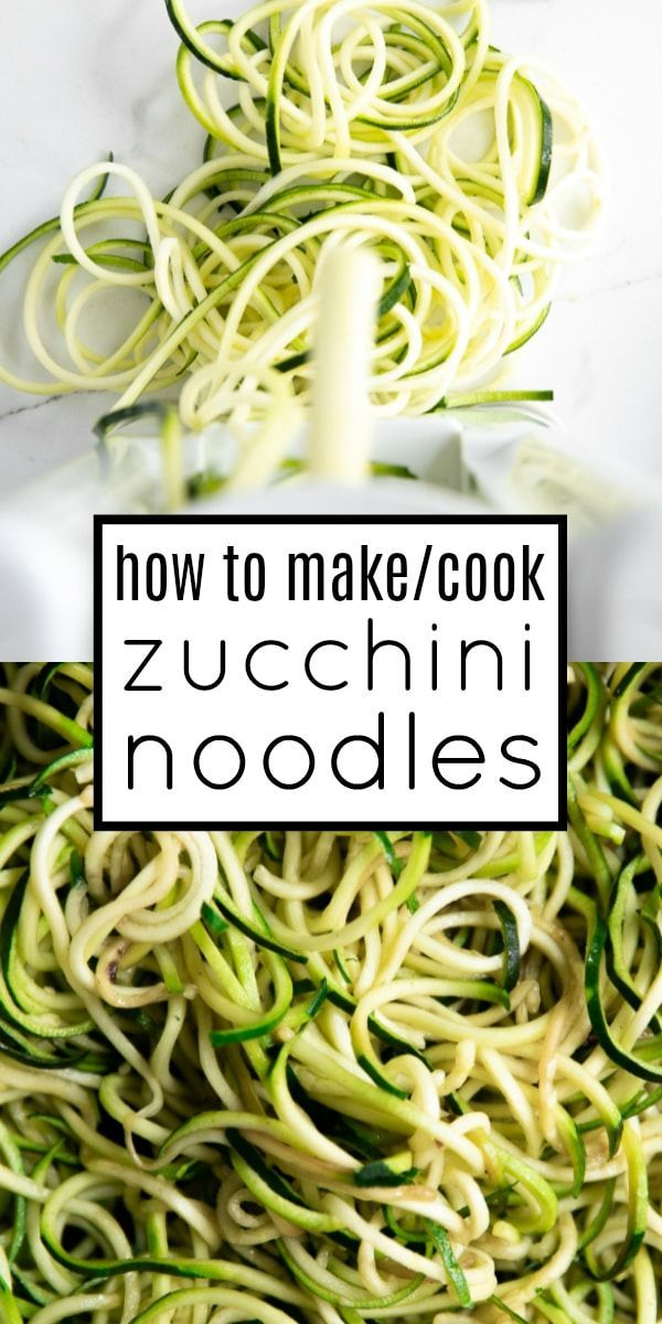 Zoodles Recipe (How to Cook Zucchini Noodles)