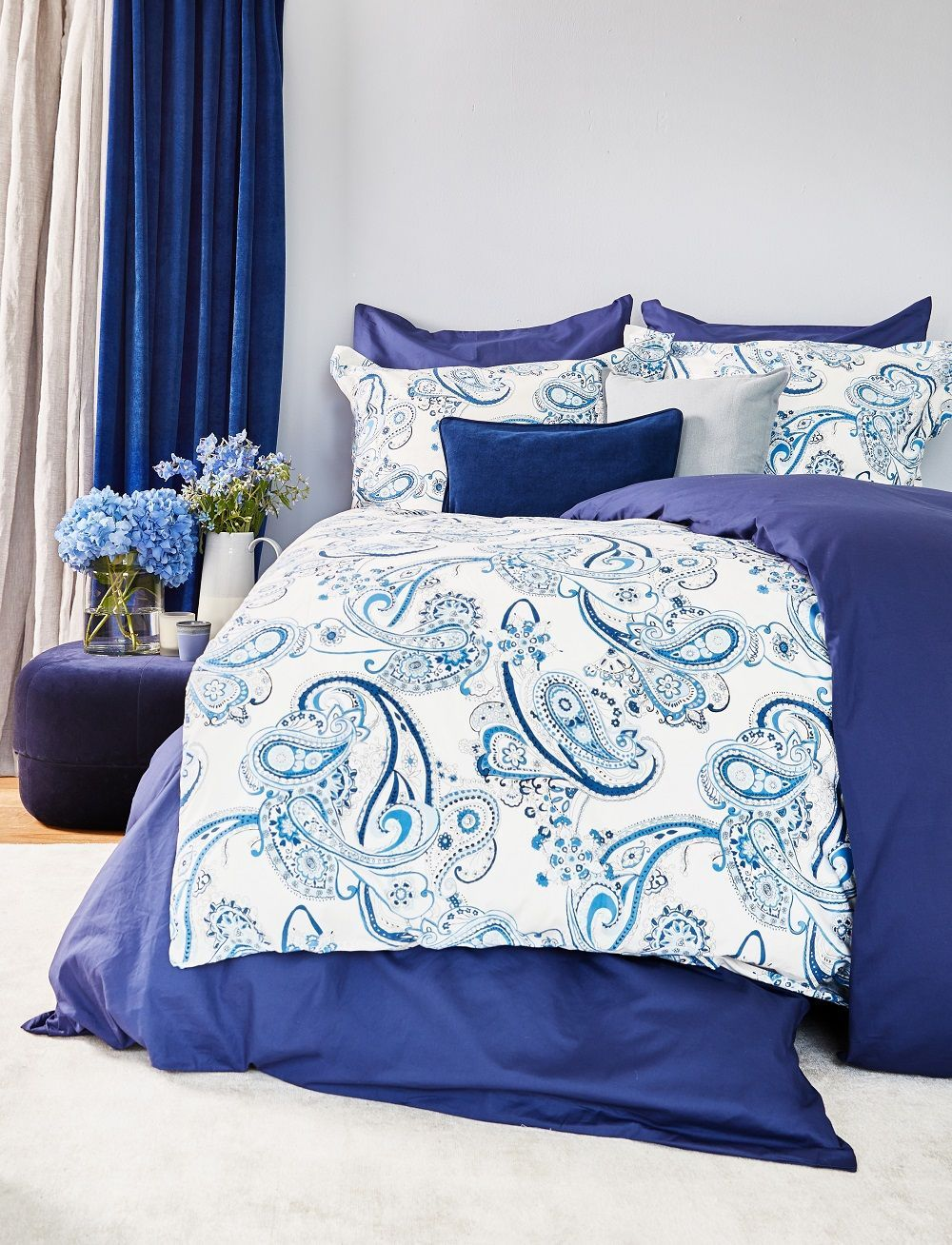 Blue Dreams Mit Der Perkal Bettwasche Farina Kannst Du Zu Hause