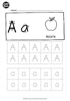 Free Alphabet Tracing Worksheets Download All The Letters From A To