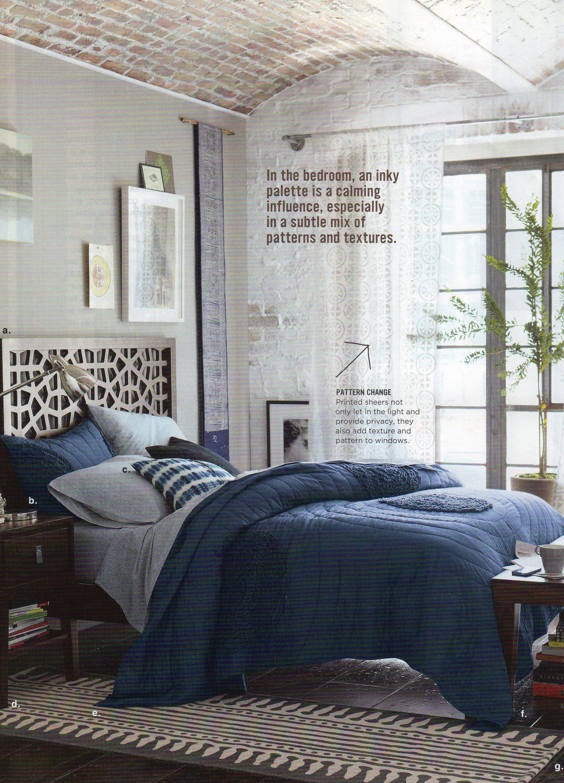 Grey Walls Navy Bedding Textures Masculine B E D S