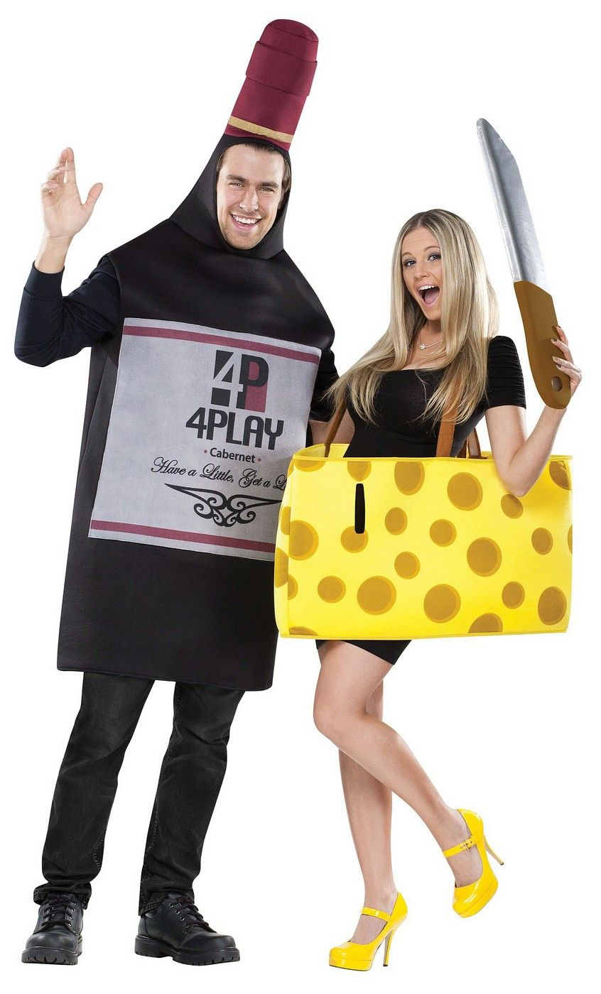 Perfectly Paired Wine Cheese Couple Costume Cheese Costume Couples Costumes Creative Cool Halloween Costumes