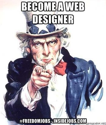 Become a Web Designer, enjoy creative online visual freedom - web designer job description