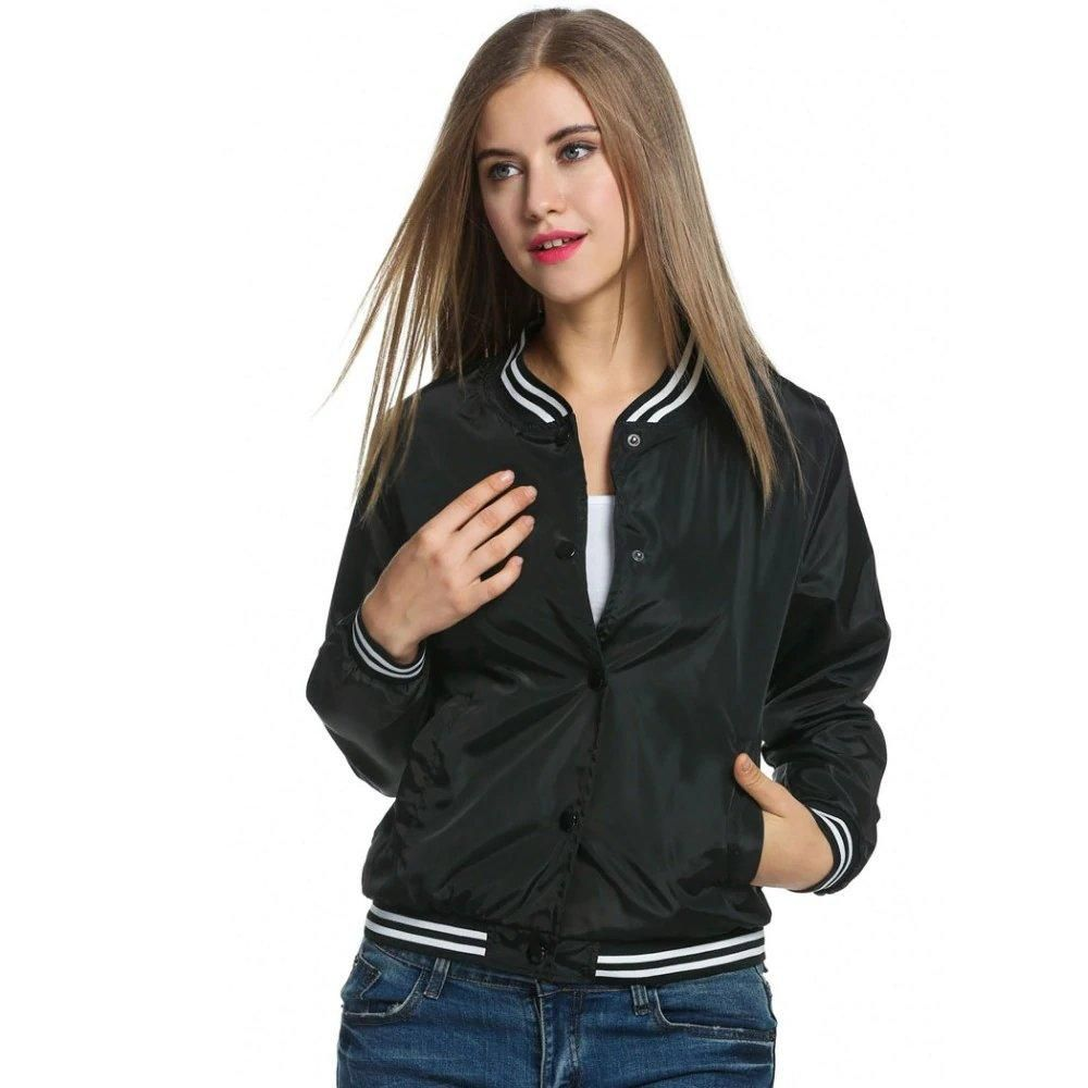 39c0d0ac1149d Women s Spring Casual Stand-Collar Bomber