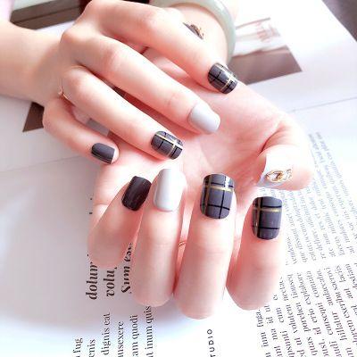 wholesale artificial nails nail products 24 boxed gray