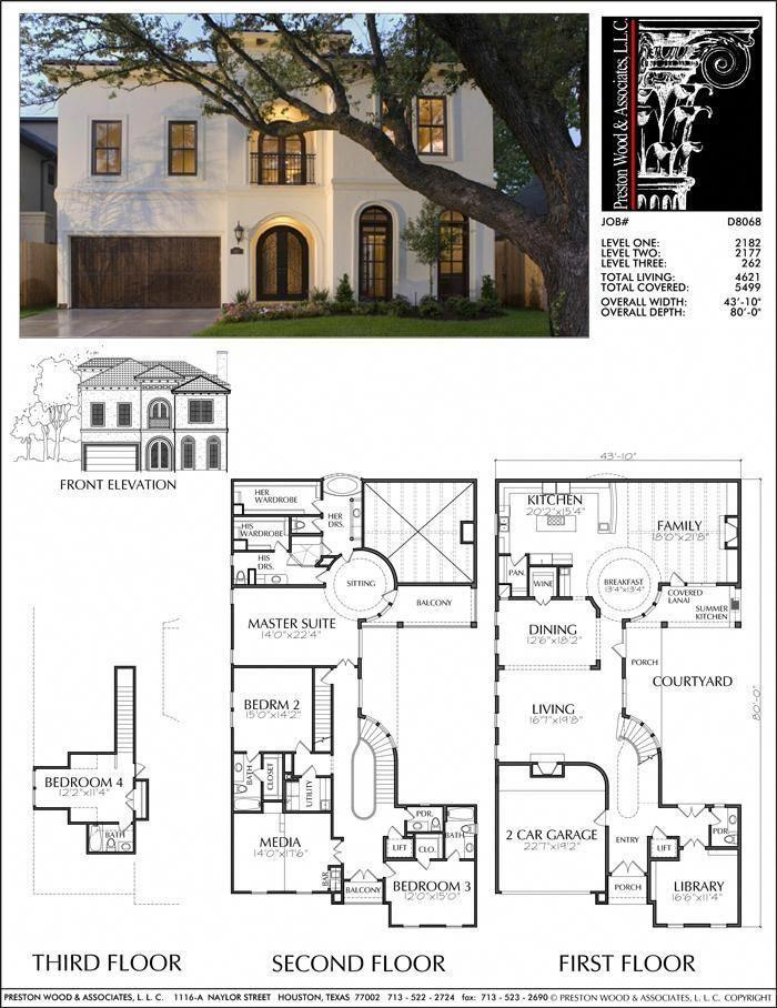 Unique two story house plan floor plans for large homes desi  preston wood associates homedesign also rh pinterest