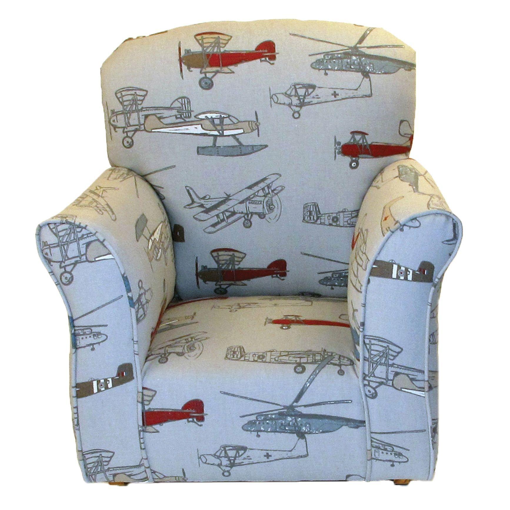 Dozydotes Airplane Print Cotton Toddler Rocking Chair Toddler