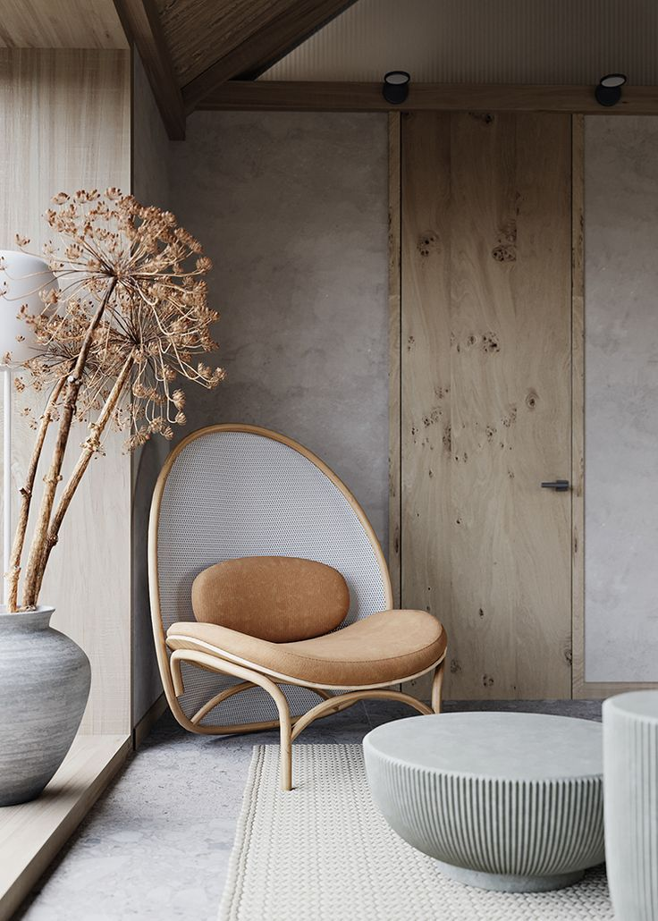 Contemporary small house with natural color palette and textures design by maria marinina also amazing reading nooks that will inspire to your own rh pinterest