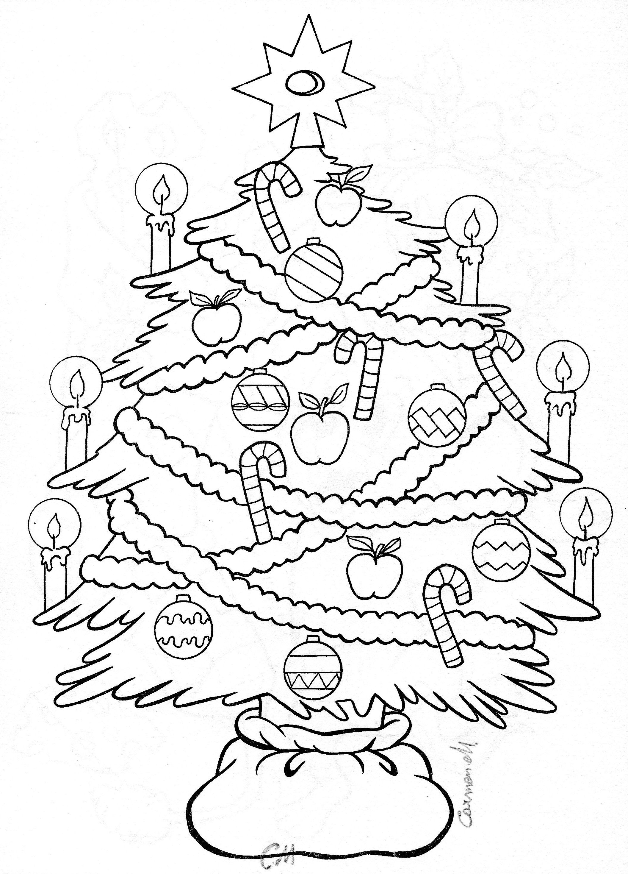 Christmas Tree Colouring Let S Color Pinterest Christmas